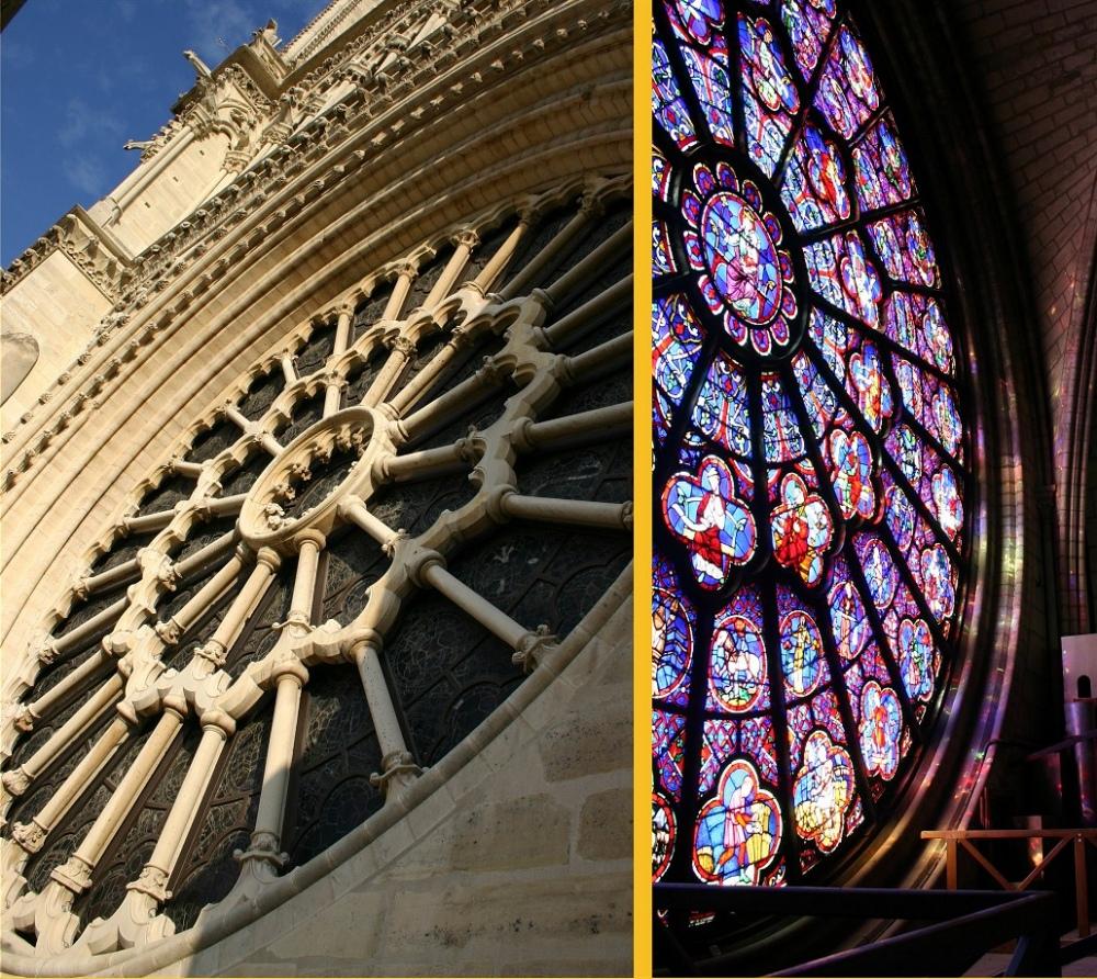 Vitraux De La Cathedrale Notre Dame De Paris