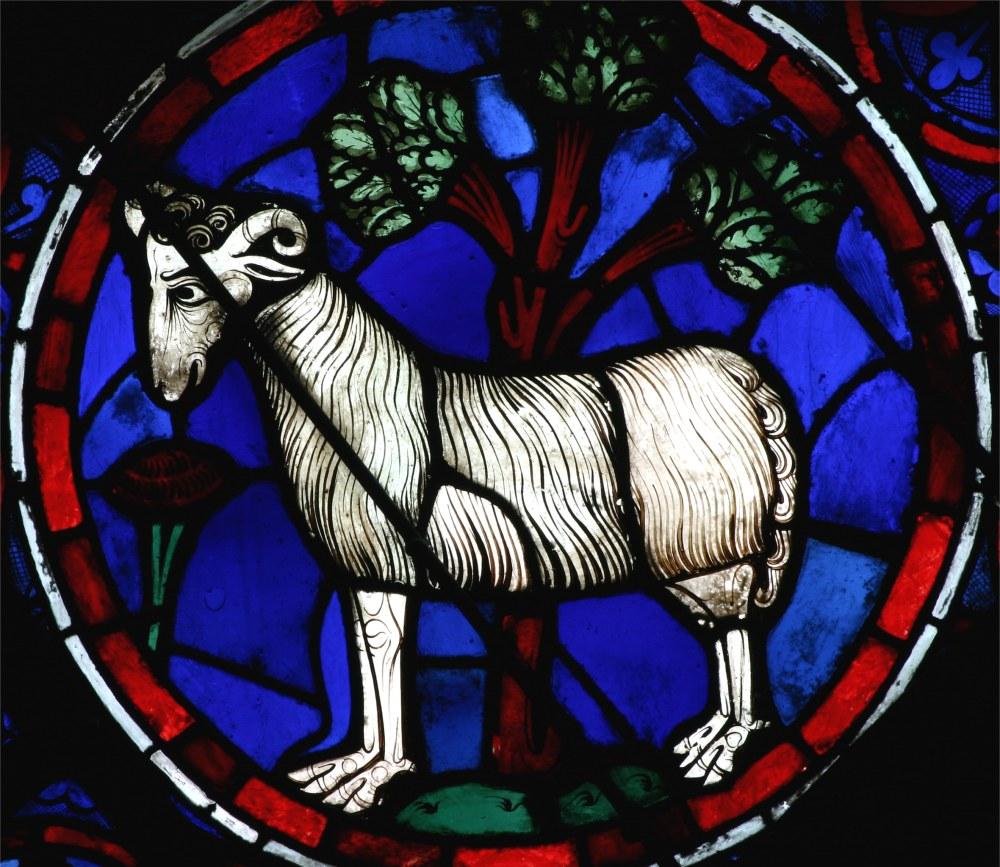 Cathédrale Notre Dame de Paris, Vitrail du signe du zodiaque du bélier