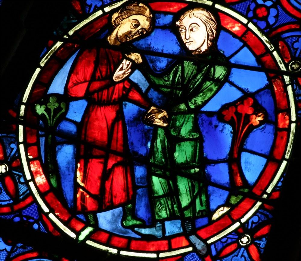 Cathédrale Notre Dame de Paris, signe du zodiaque des Gémaux, rosace ouest